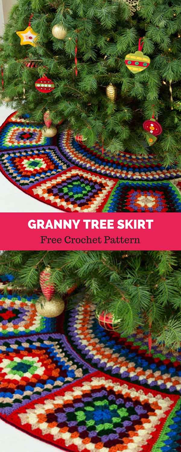 Granny Tree Skirt Free Crochet Pattern Daily Crochet Patterns
