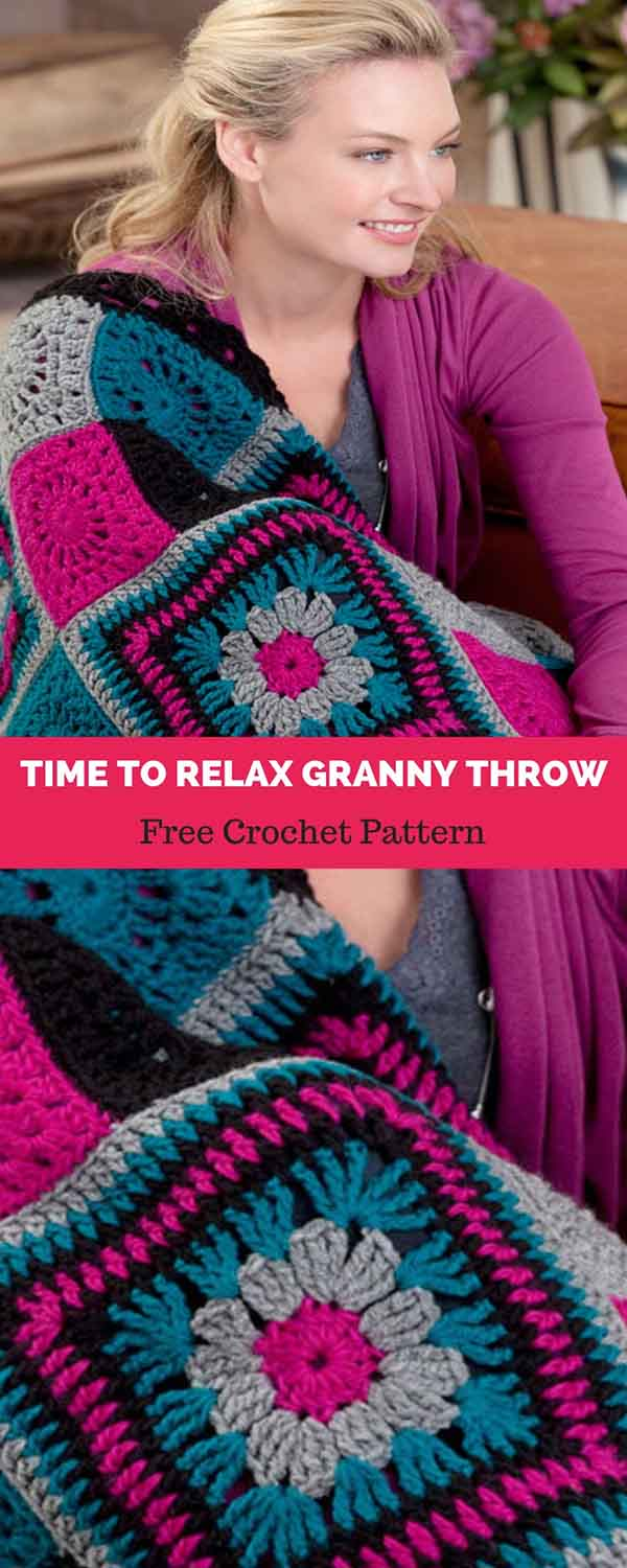 Time To Relax Granny Throw Free Crochet Pattern Daily Crochet