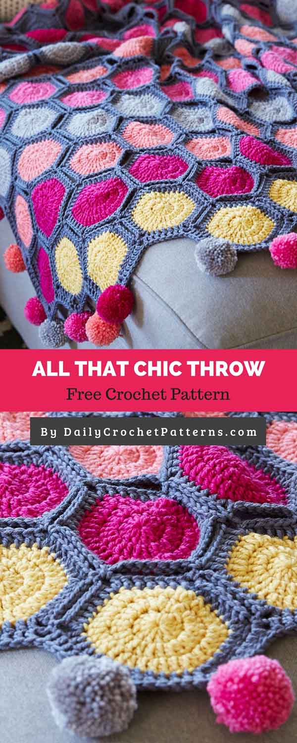 All That Chic Throw Free Crochet Pattern Daily Crochet Patterns