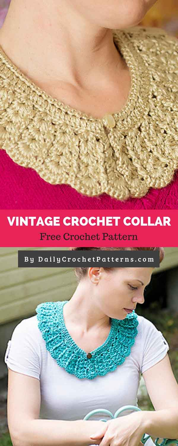 Vintage Crochet Collar Free Crochet Pattern Daily Crochet Patterns