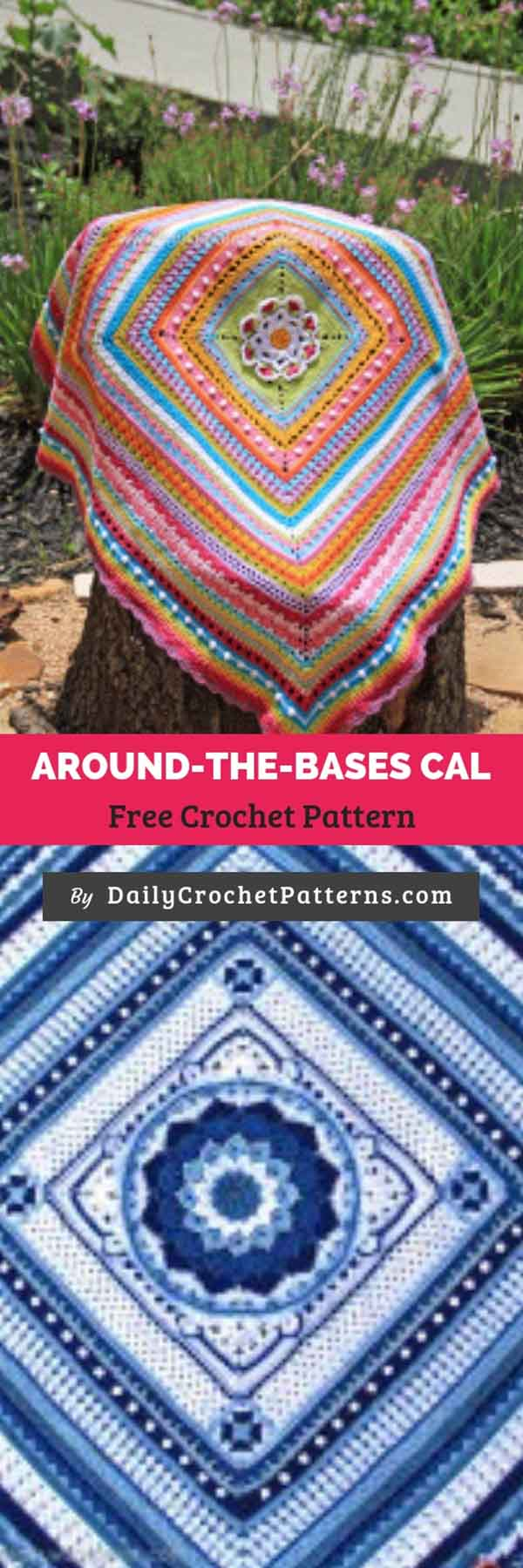Around-the-Bases cal Free Crochet Pattern