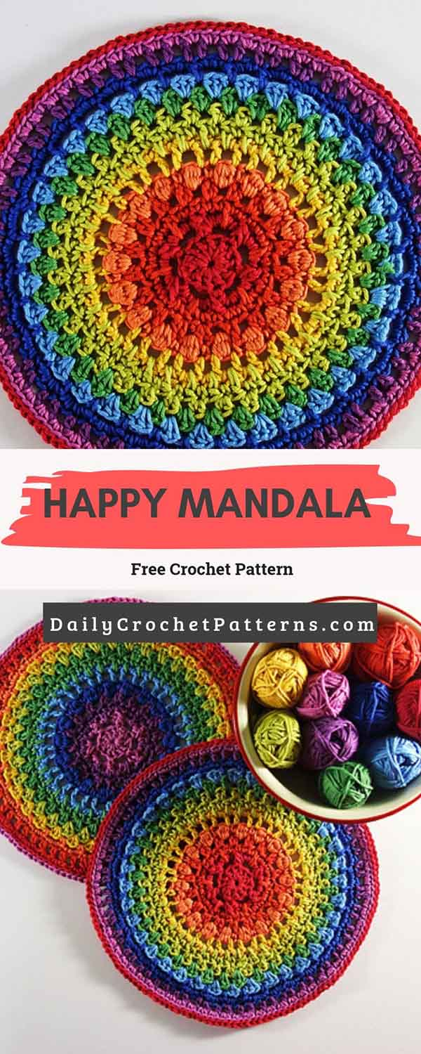 Happy Mandala Free Crochet Pattern