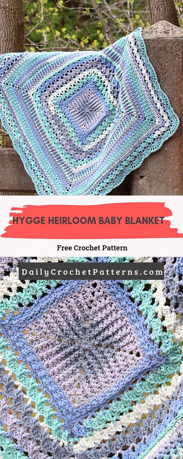 Hygge Heirloom Baby Blanket Free Crochet Pattern