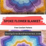 Spoke Flower Blanket Free Crochet Pattern