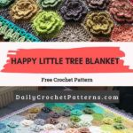 happy little tree blanket Free Crochet Pattern
